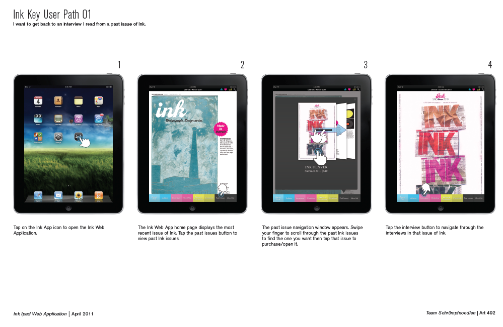 Ink iPad screens